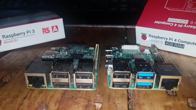 Ports USB - Raspberry 3 et 4 en comparaison