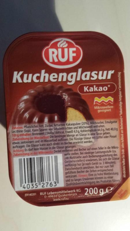 Ruf Kuchenglasur Kakao Kalorien Nahrwerte Produktdaten