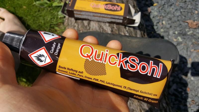 Schritt 2: Reparaturpaste (QuckSohl)
