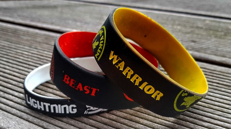 Die Armbänder für Finisher beim Strong Viking