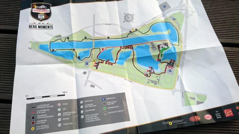 Streckenplan vom StrongmanRun in Köln 2017