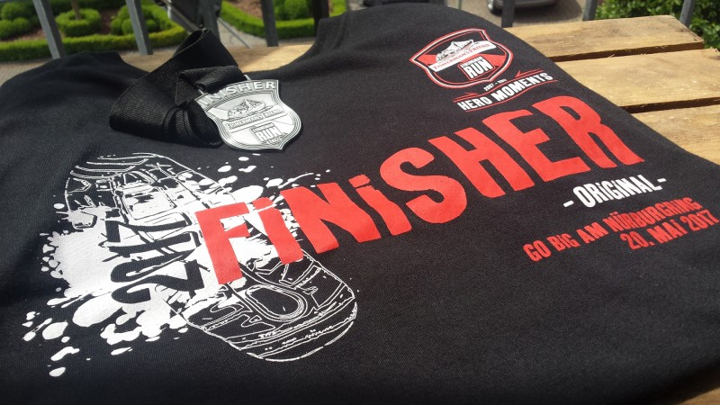 Das Finisher-Shirt vom StrongmanRun Nürburgring 2017 (Original, 24 Kilometer)