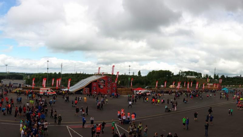 Das Hindernis im Zielbereich beim StrongmanRun am Nürburgring 2017