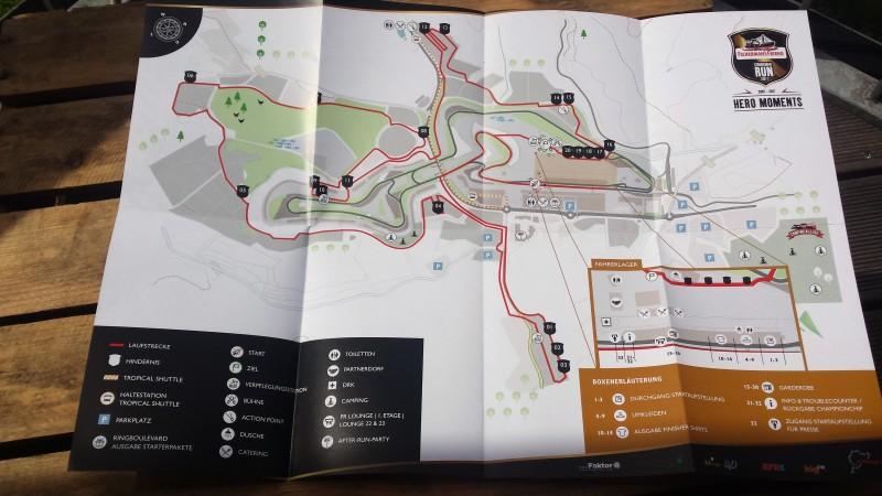 Streckenplan des StrongmanRun am Nürburgring 2017