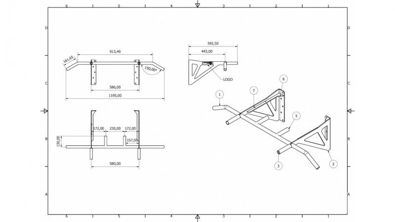 Technische Zeichnung (Bauplan) der HS-KE-W6