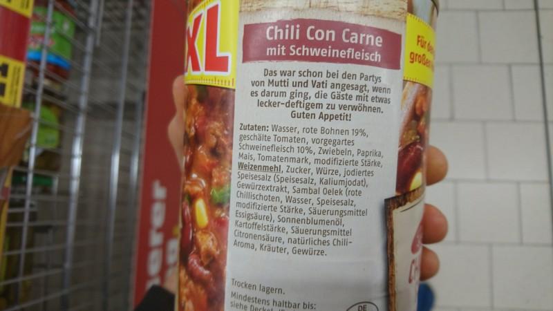 Theas Beste Penny Chili Con Carne Kalorien Nährwerte
