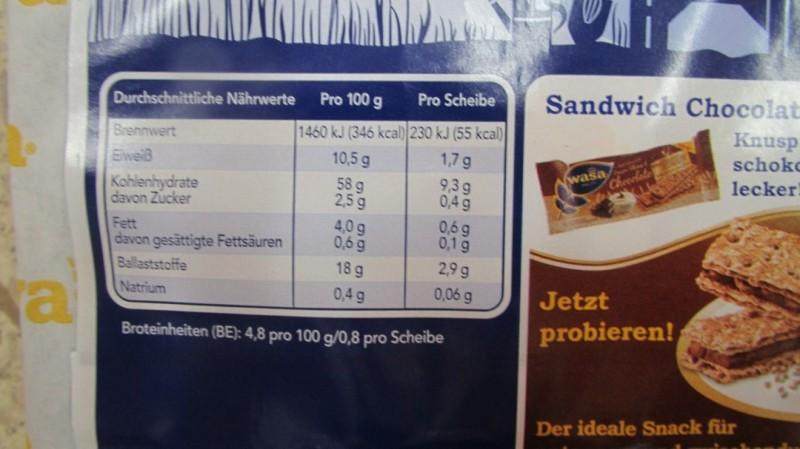 Knäckebrot Kalorien