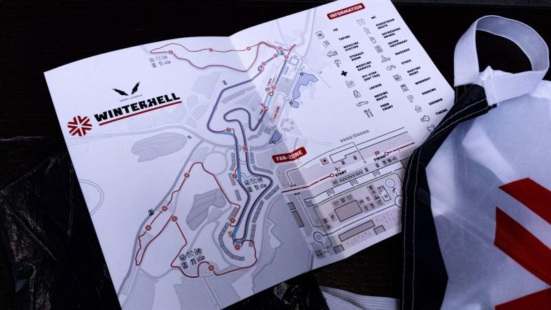 Der Streckenplan vom Winterhell 2018 am Nürburgring