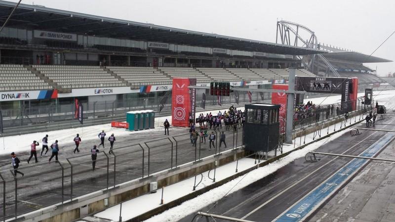 Blick auf den Startbereich beim Winterhell 2018