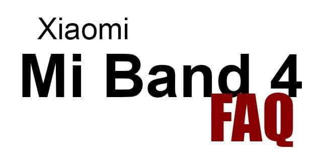 Xiaomi Mi Band 4 - Fragen & Antworten | FAQ