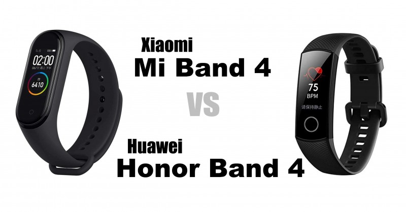 Xiaomi Mi Band 4 vs Huawei Honor Band 4 - Which is better?