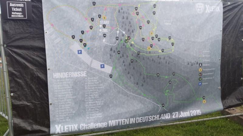 Laufstrecke der XLETIX Challenge Mitten in Deutschland 2015
