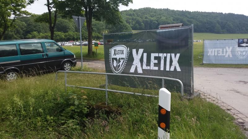Parkplatz bei der XLETIX Challenge Mitten in Deutschland 2015