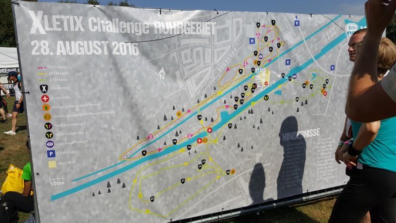 Streckenplan XLETIX Challenge Ruhrgebiet 2016