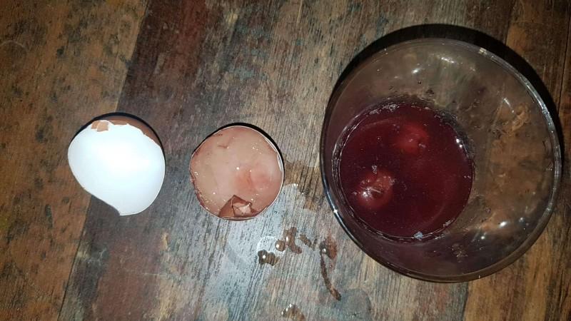 Zahnverfärbung durch Energydrink, Crazywolf Sugar Free (Vorher/Nachher mit Eierschalen-Versuch)